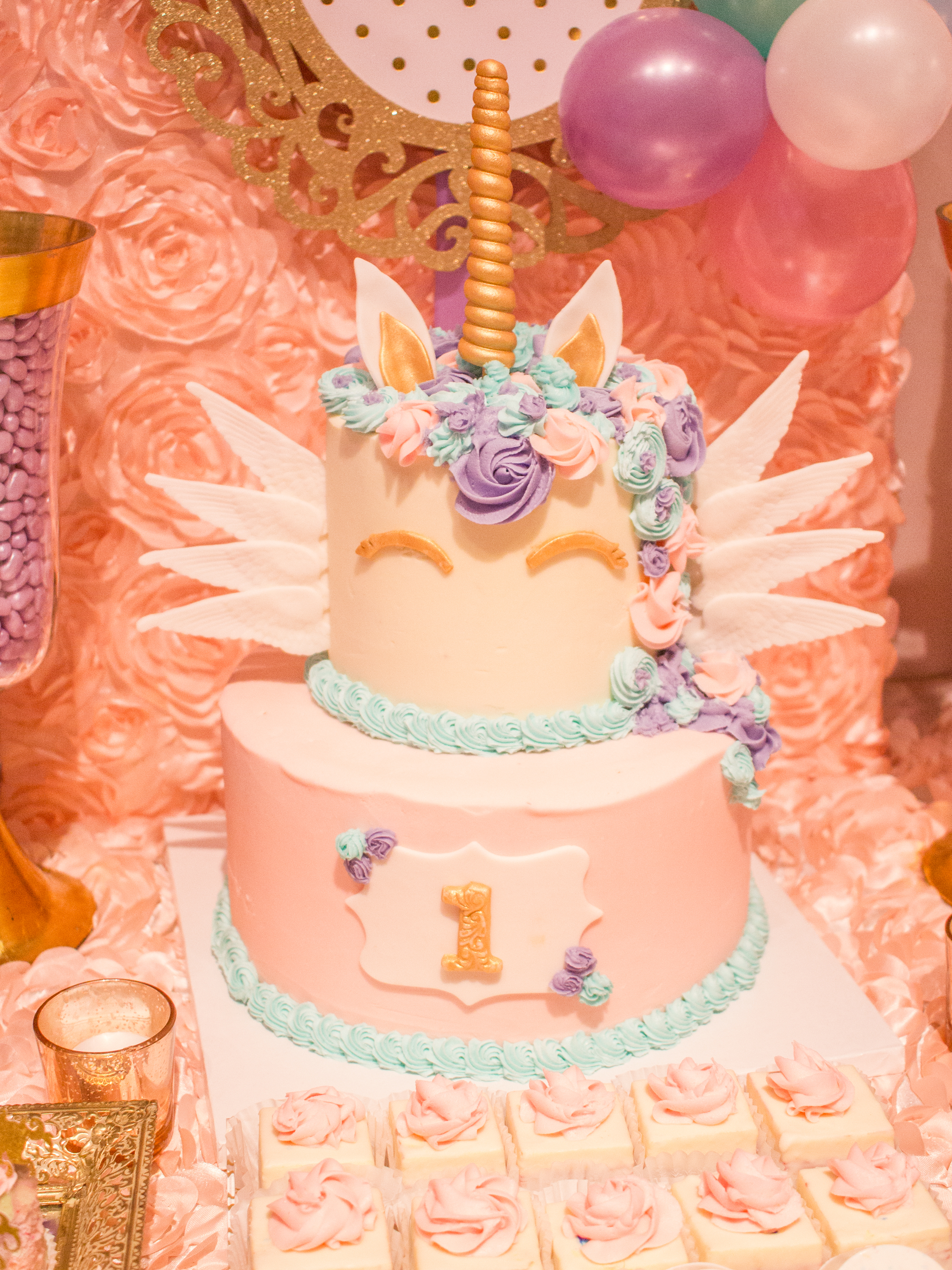 Unicorn 1st Birthday Party at Chez - Kehoe Designs