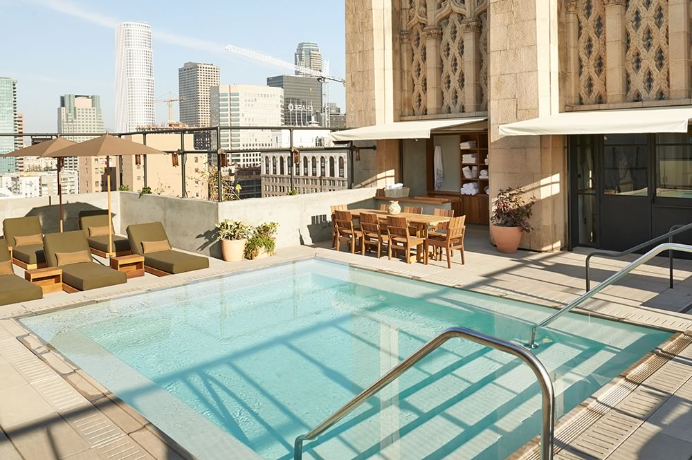 Ace Hotel Downtown La Rooftop Pool Partyslate