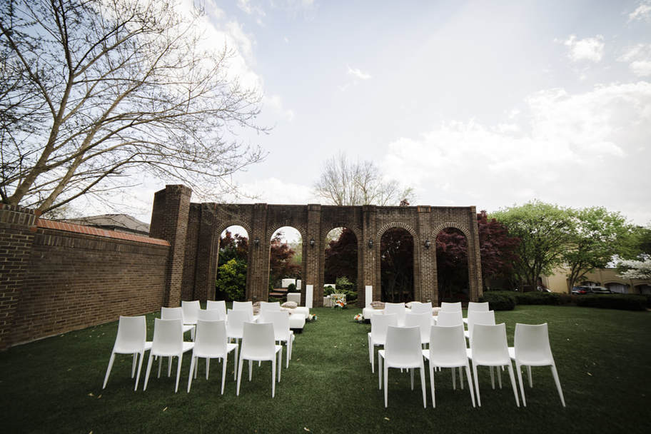 French Garden Meets Miami Mod Wedding: East Ivy Mansion, Nashville - So Cool Events, Inc.