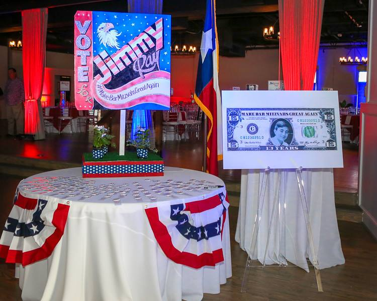 Vote for Jimmy-Campaign Themed Bar Mitzvah - Tie A Bow