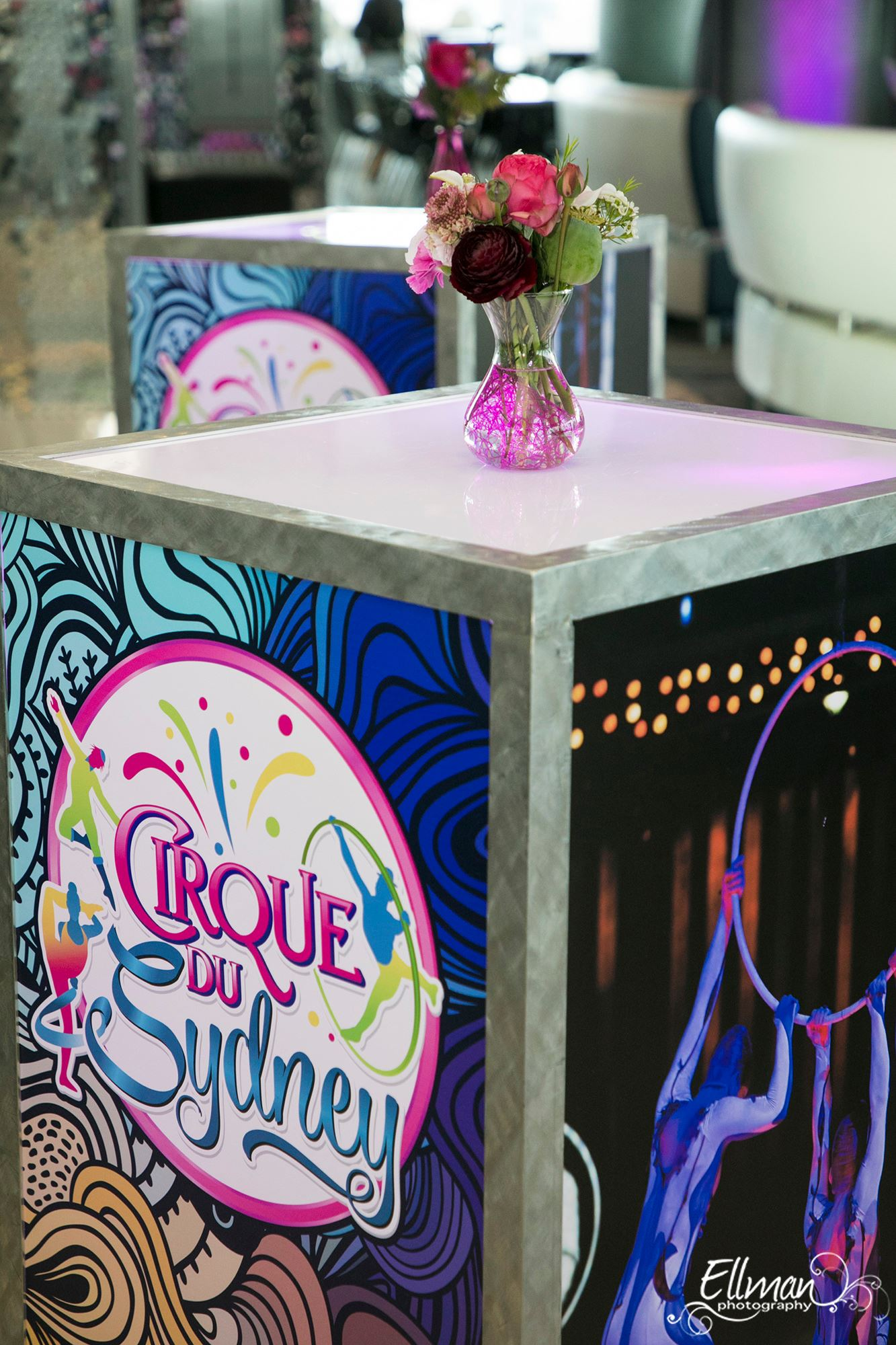 Cirque Themed Bat Mitzvah - Tie A Bow
