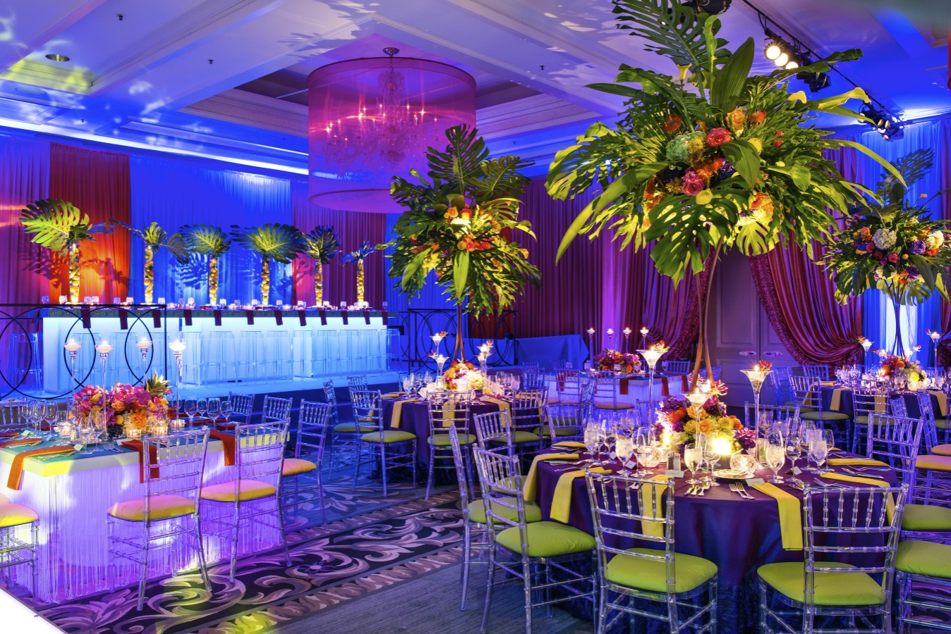 Tropical Oasis Bar Mitzvah - Four Seasons Hotel Chicago