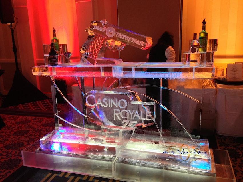 007 Casino Royale Ice Bar Ice Sculpture