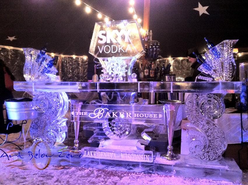 The Baker House and Skyy vodka Ice Bar