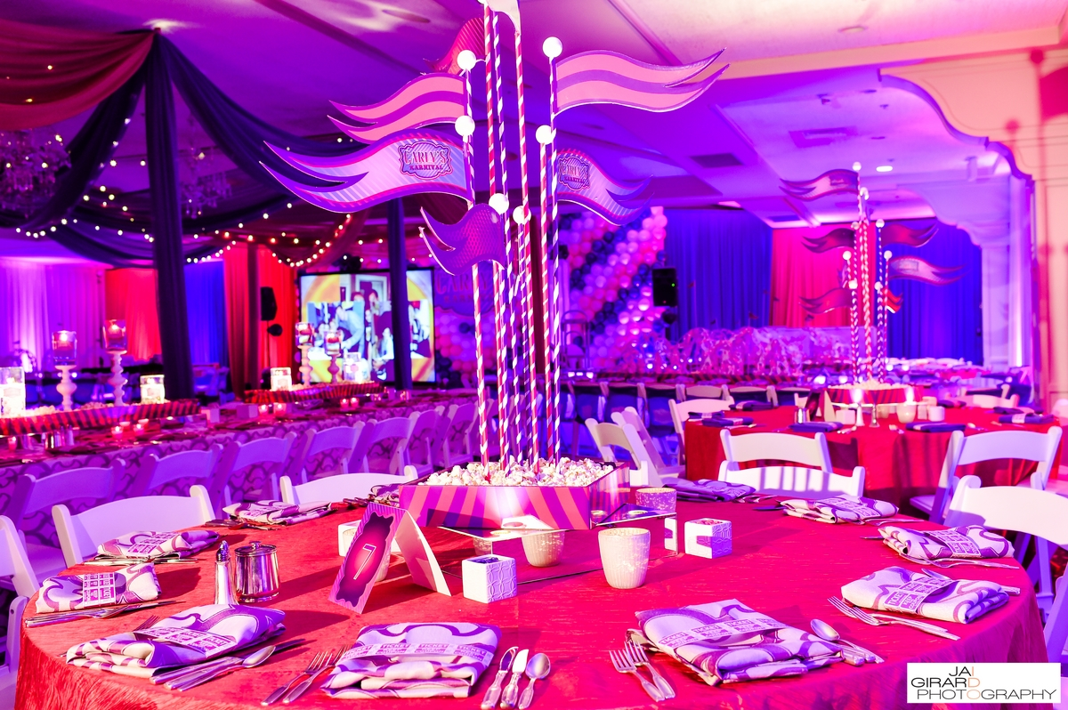 Contemporary Carnival Bat Mitzvah - Designer Event Chicago