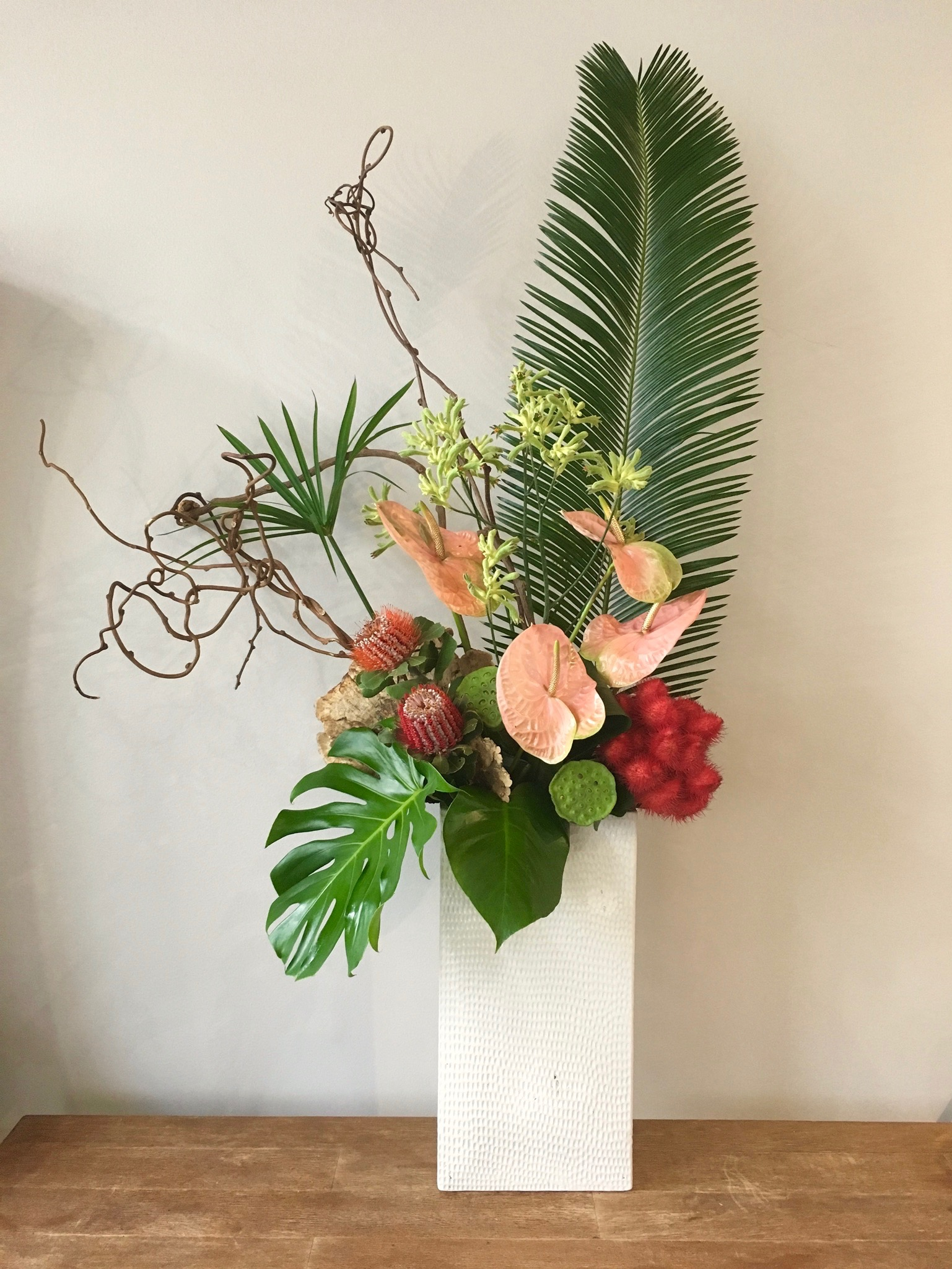 A twist on tropical for one of our weekly subscription clients.