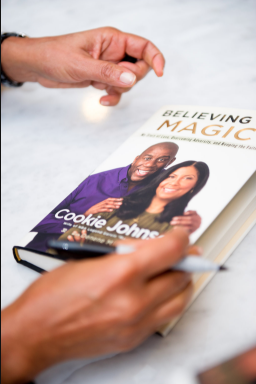 "COOKIE JOHNSON's ""BELIEVING IN MAGIC"" BOOK SIGNING - Nicole Marie Events"