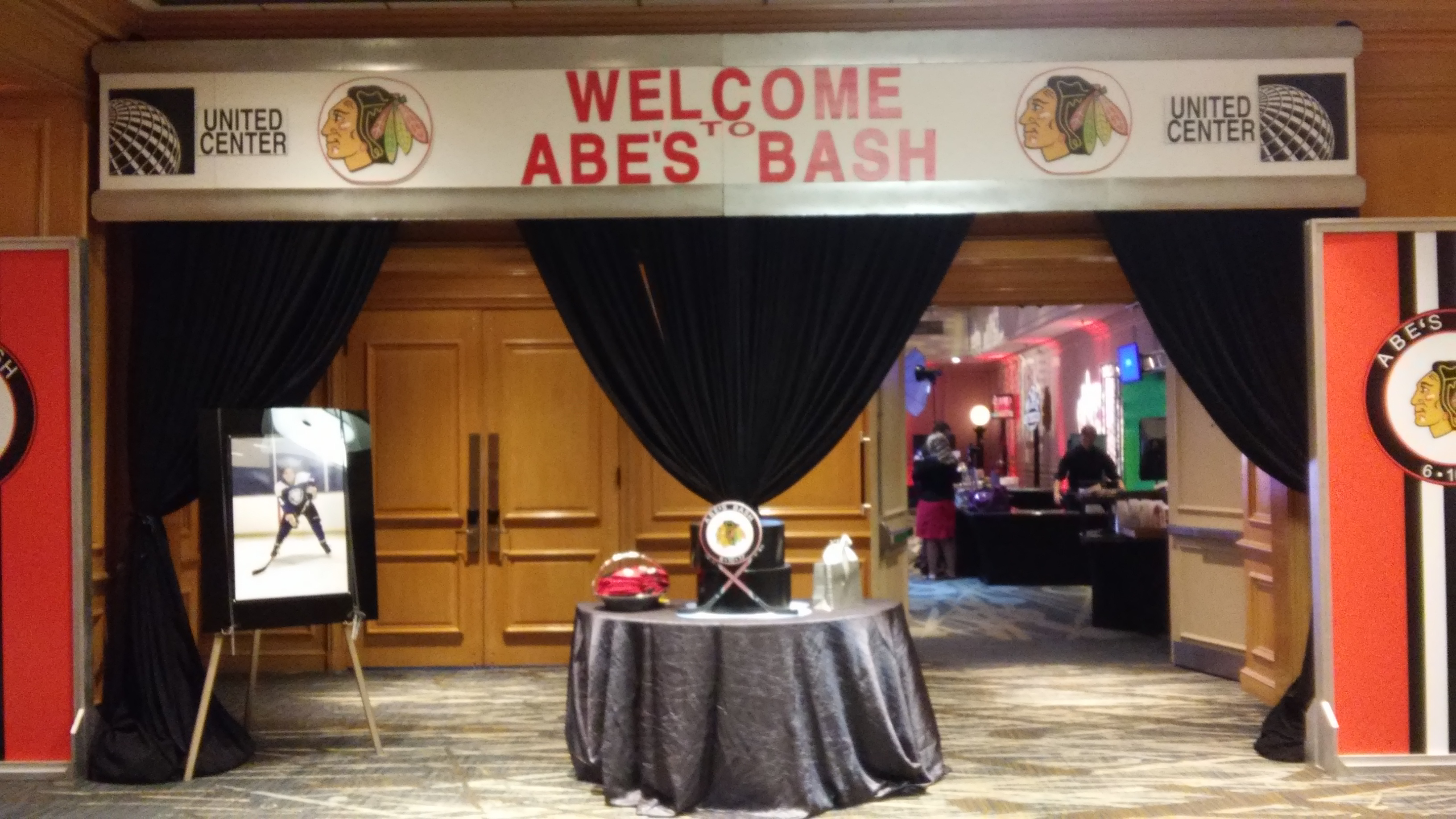 Hockey Theme Bar Mitzvah - Magic Moments Parties and Events