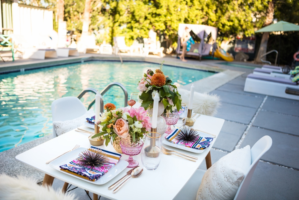 Poolside Dinner at The Wesley - Jesi Haack Design