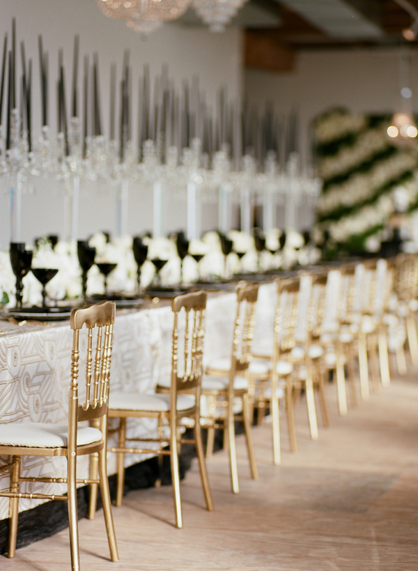 Modern Glam Rehearsal Dinner - Blue Gardenia Weddings & Events