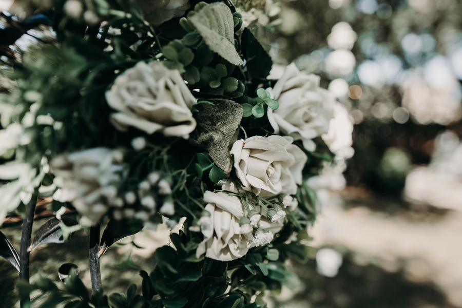 Black, White & Red Garden Wedding - Nikk Nguyen Photo