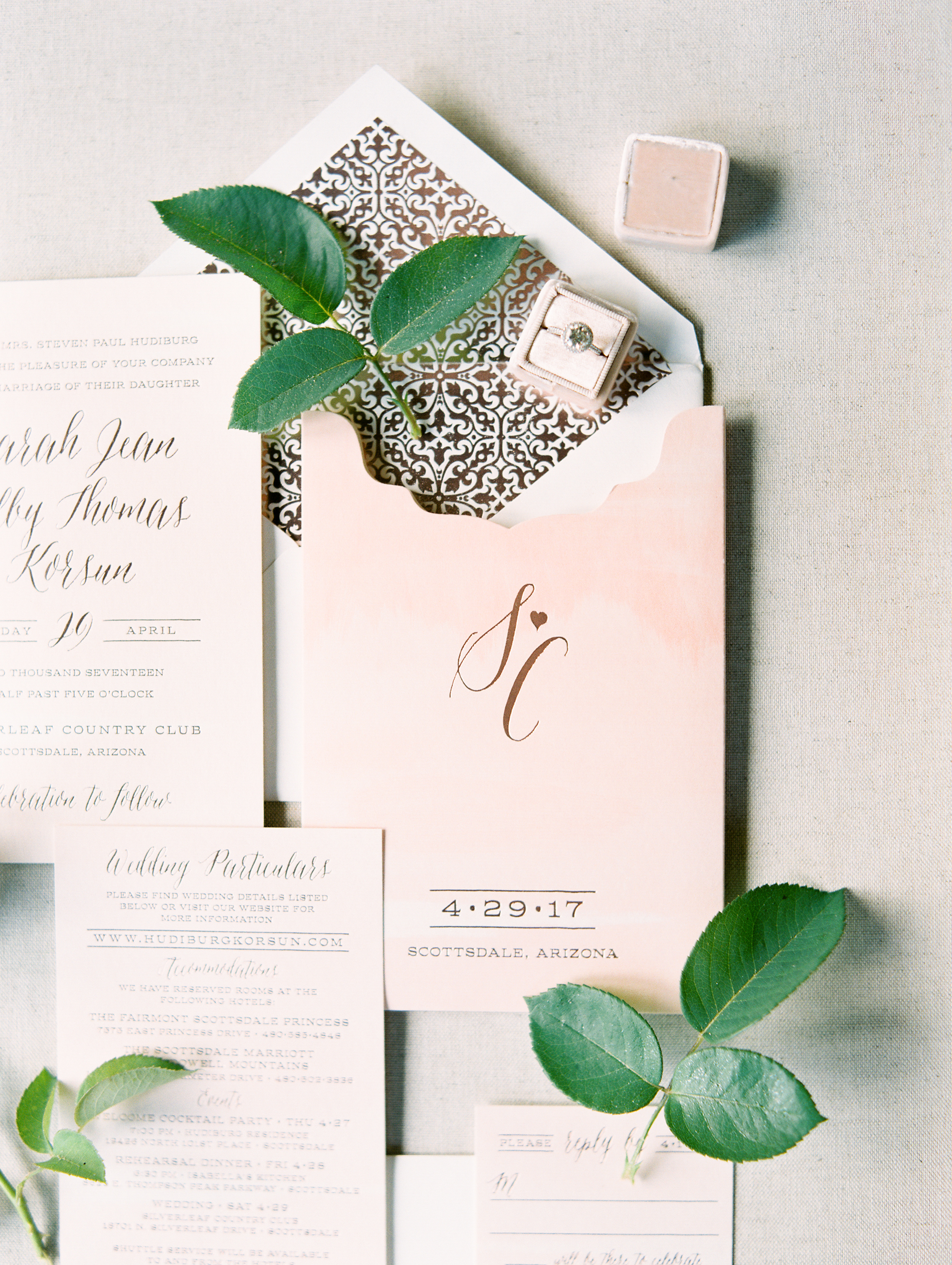 Charming Pink + Green Wedding - Imoni Events