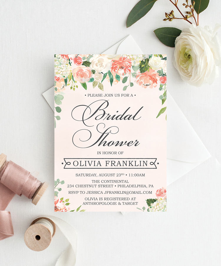 Pretty Peach Bridal Shower - Creative Union Design