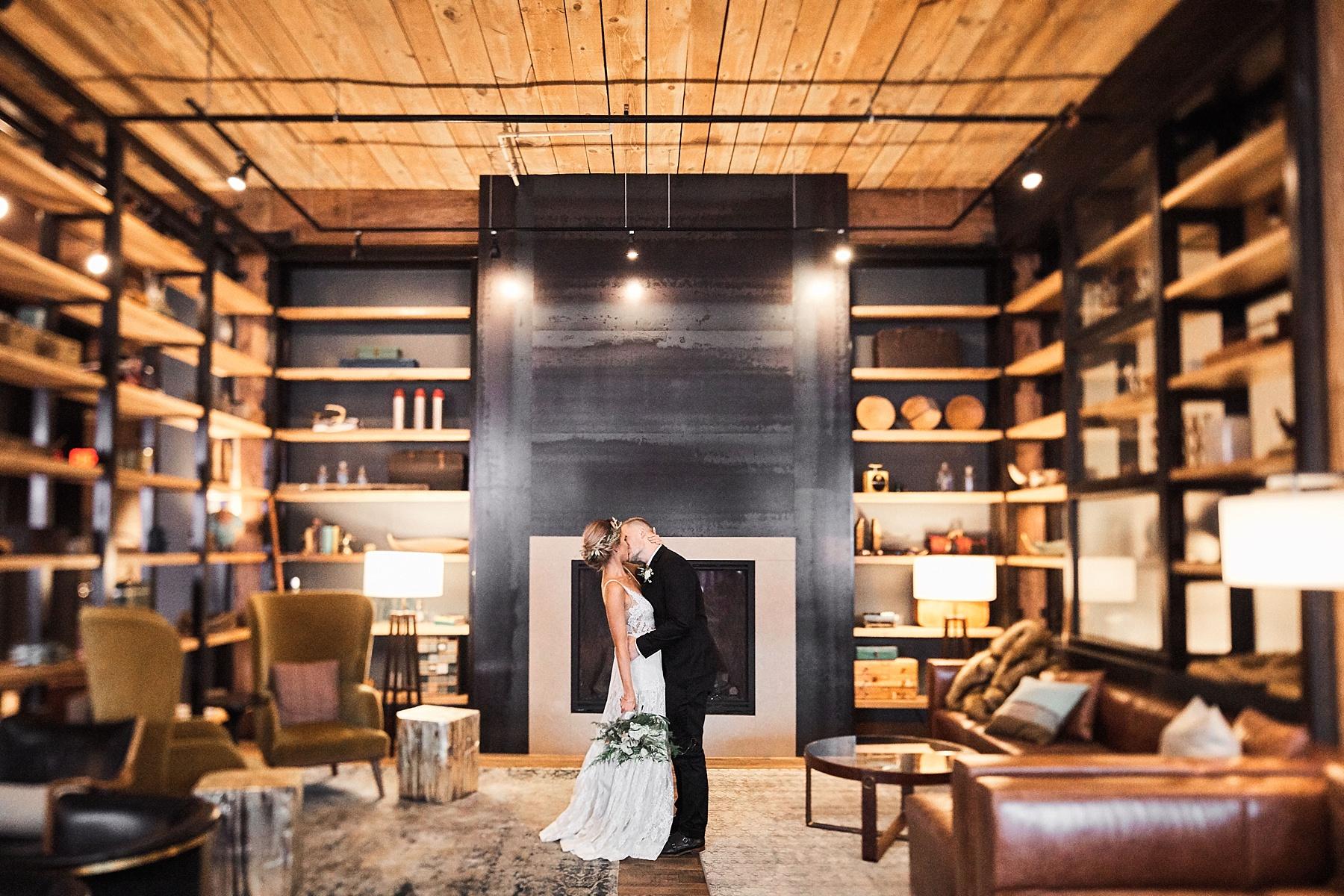 City Chic Minneapolis Wedding - Hewing Hotel