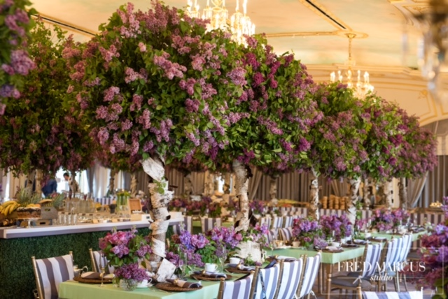 Purple & Green Dinner Party - Birch Event Design