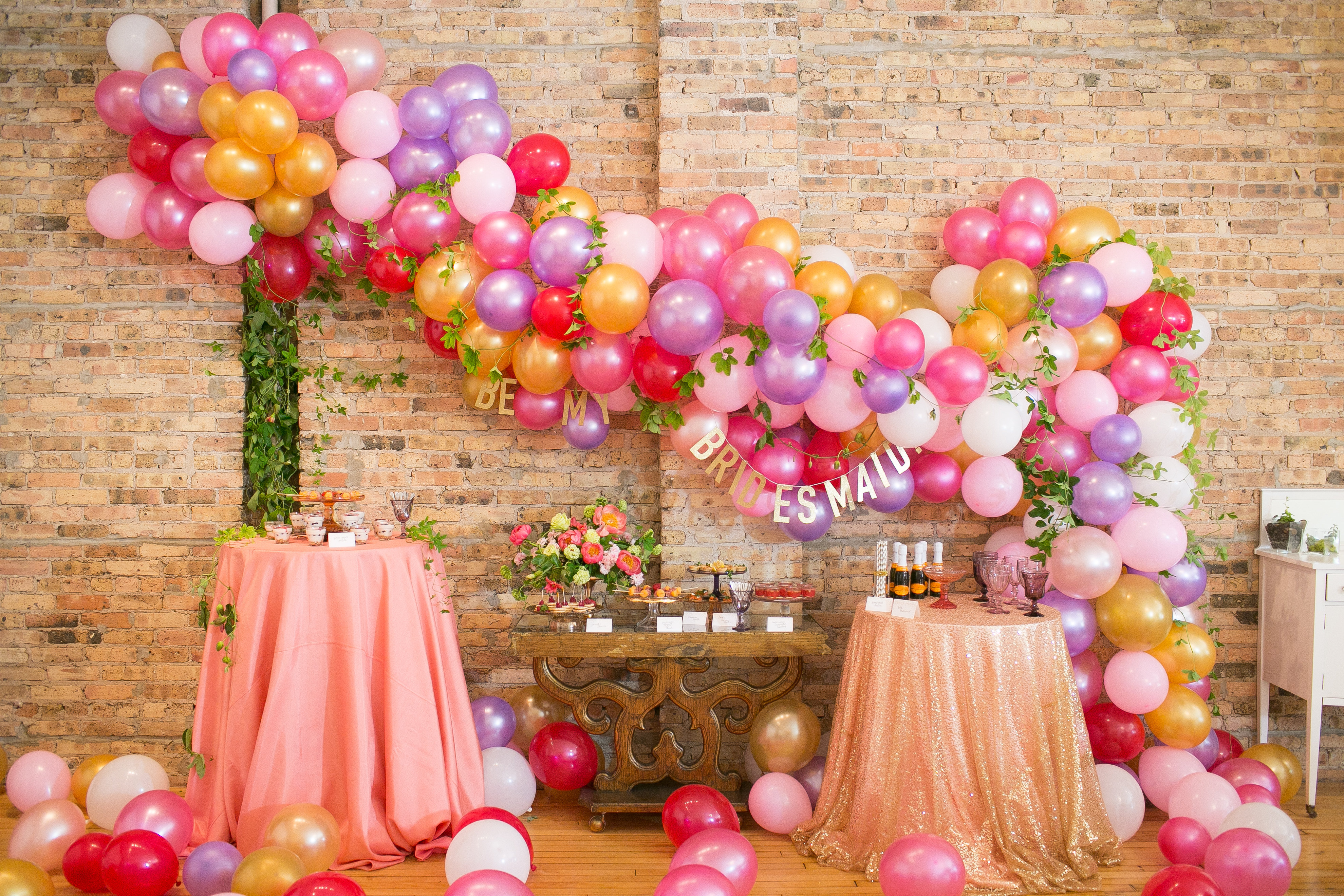Balloon arches can be chic! Pamper your peeps with a beauty bash for an occasion... or just because you love them!