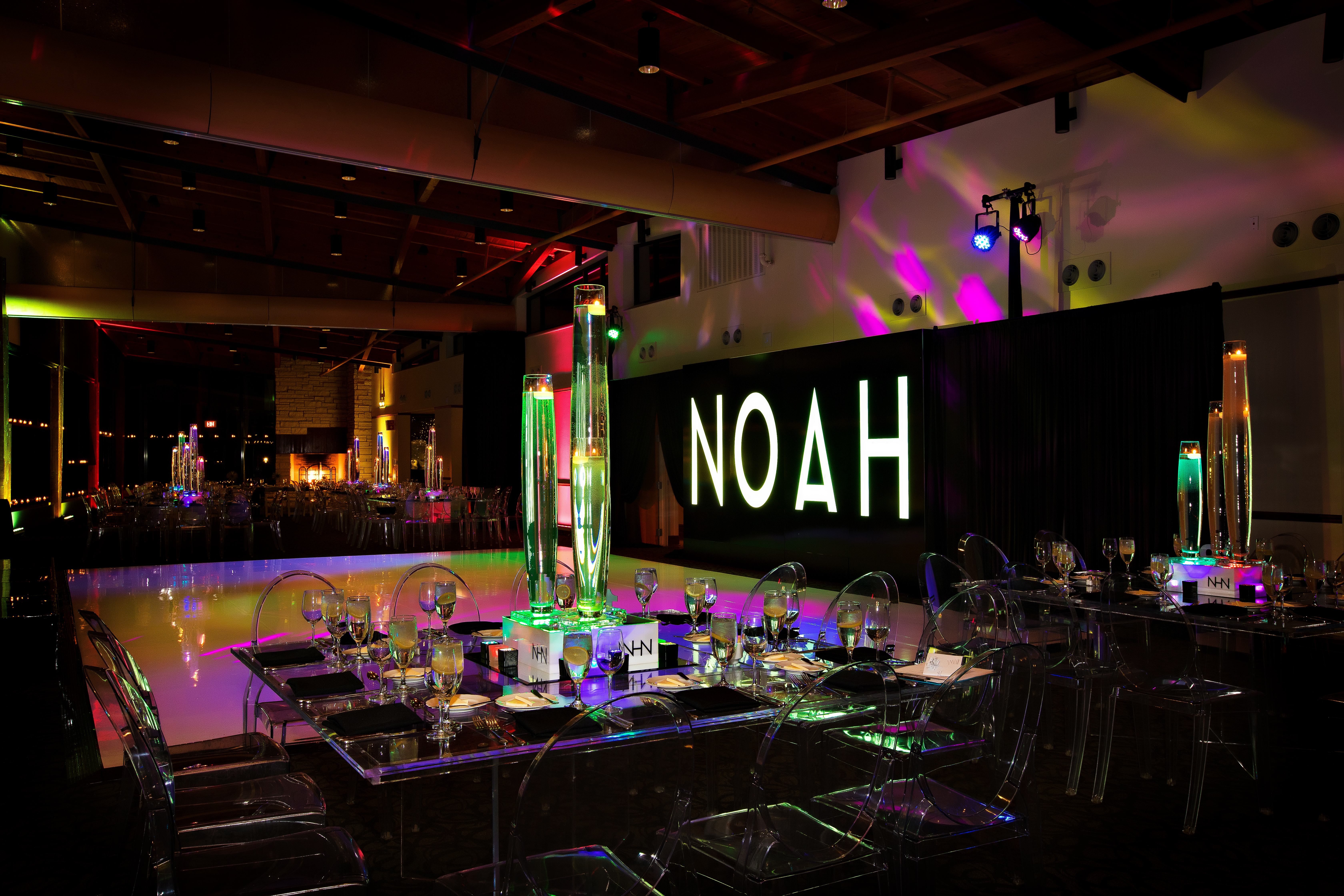 Noah's Neon Bar Mitzvah - Elaine Klein Events