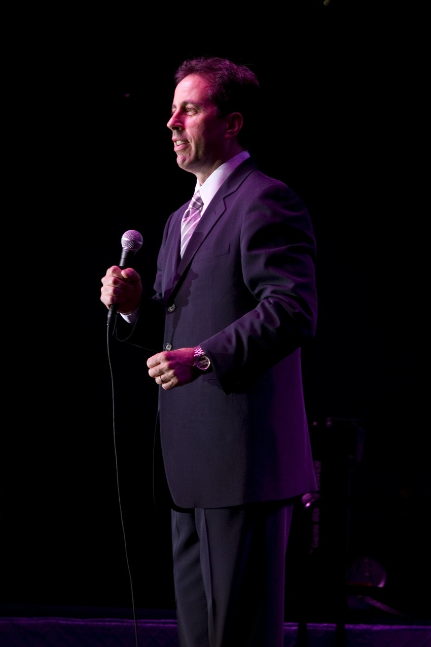 Jerry Seinfeld took the stage for a stand up performance following dinner.