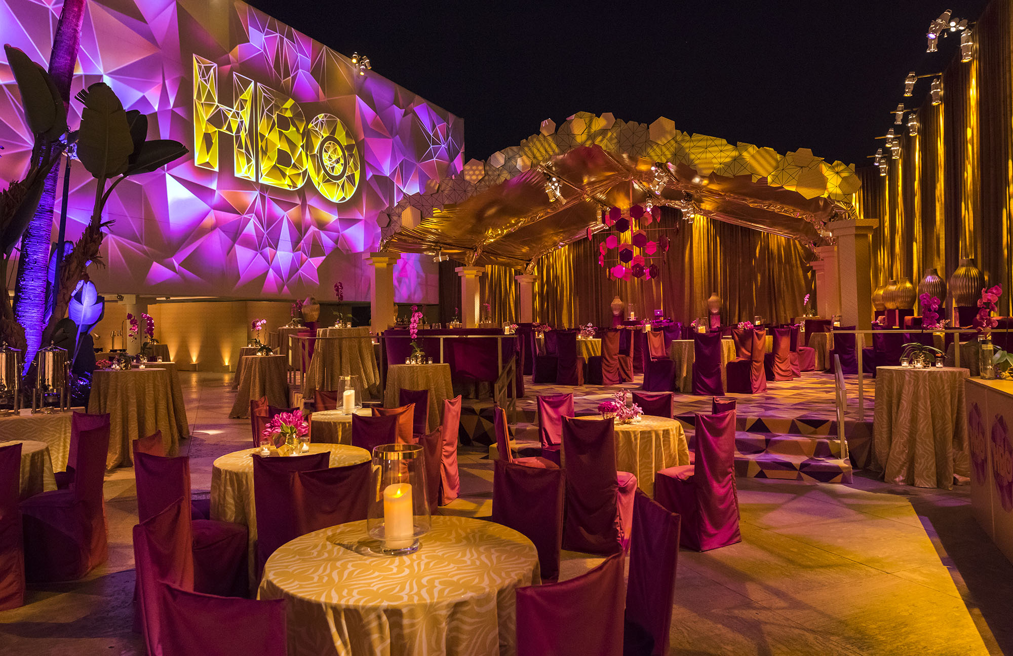 Pure Gold! HBO's Golden Globes After Party - Images By Lighting