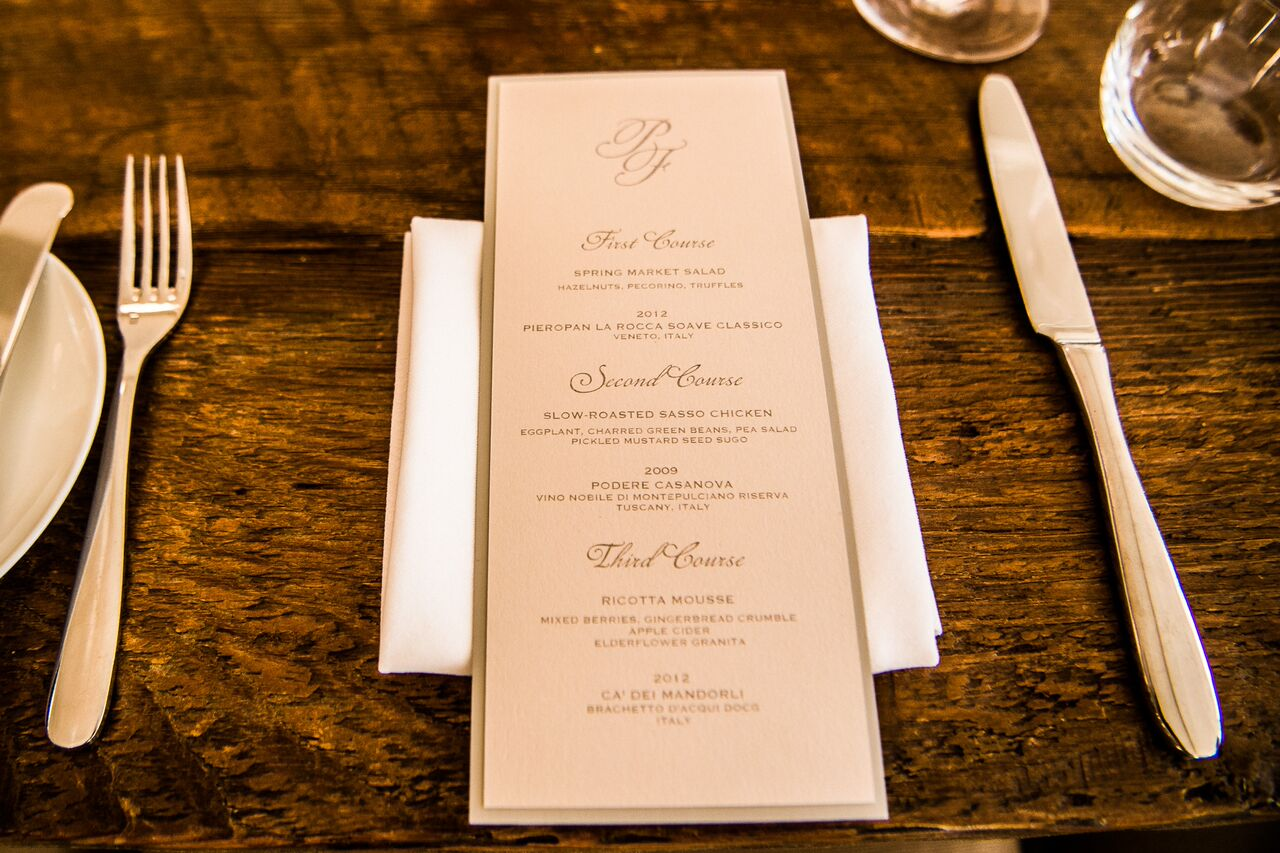 Intimate Rehearsal Dinner at SC Culinary Suite - NYLUX Events