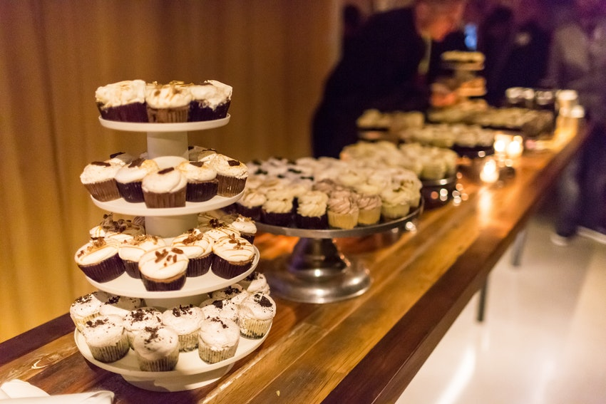 Cupcake Bar in lieu of a tradition wedding cake
