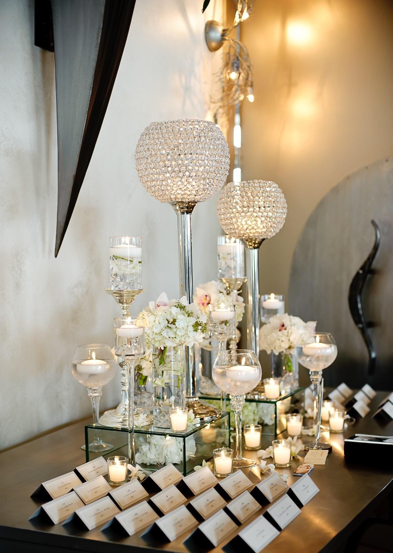 Yanni Design Studio | Wedding Reception Place Card Tables | PartySlate