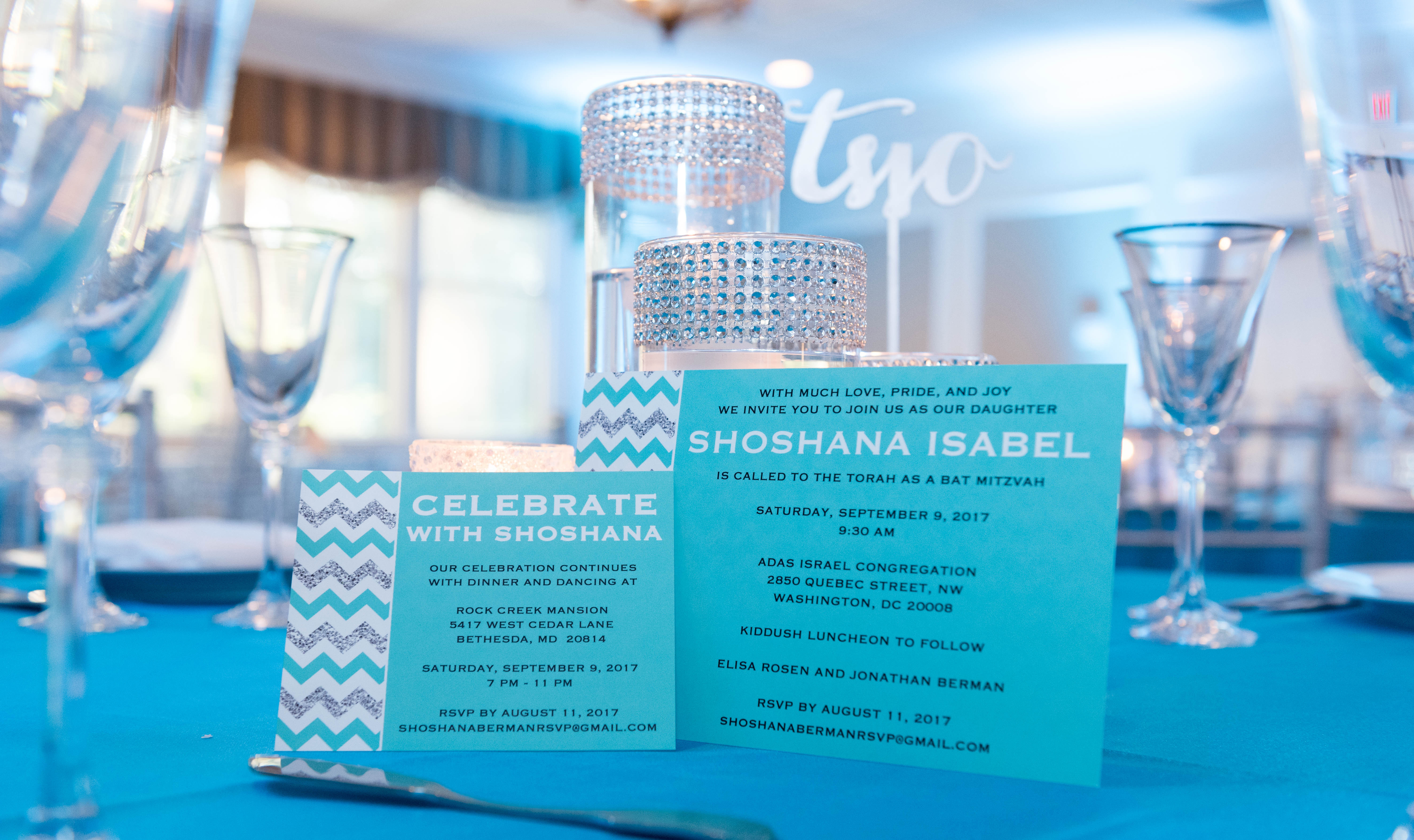 Shoshana's Blue and Silver Bat Mitzvah - Cutie Patootie Creations