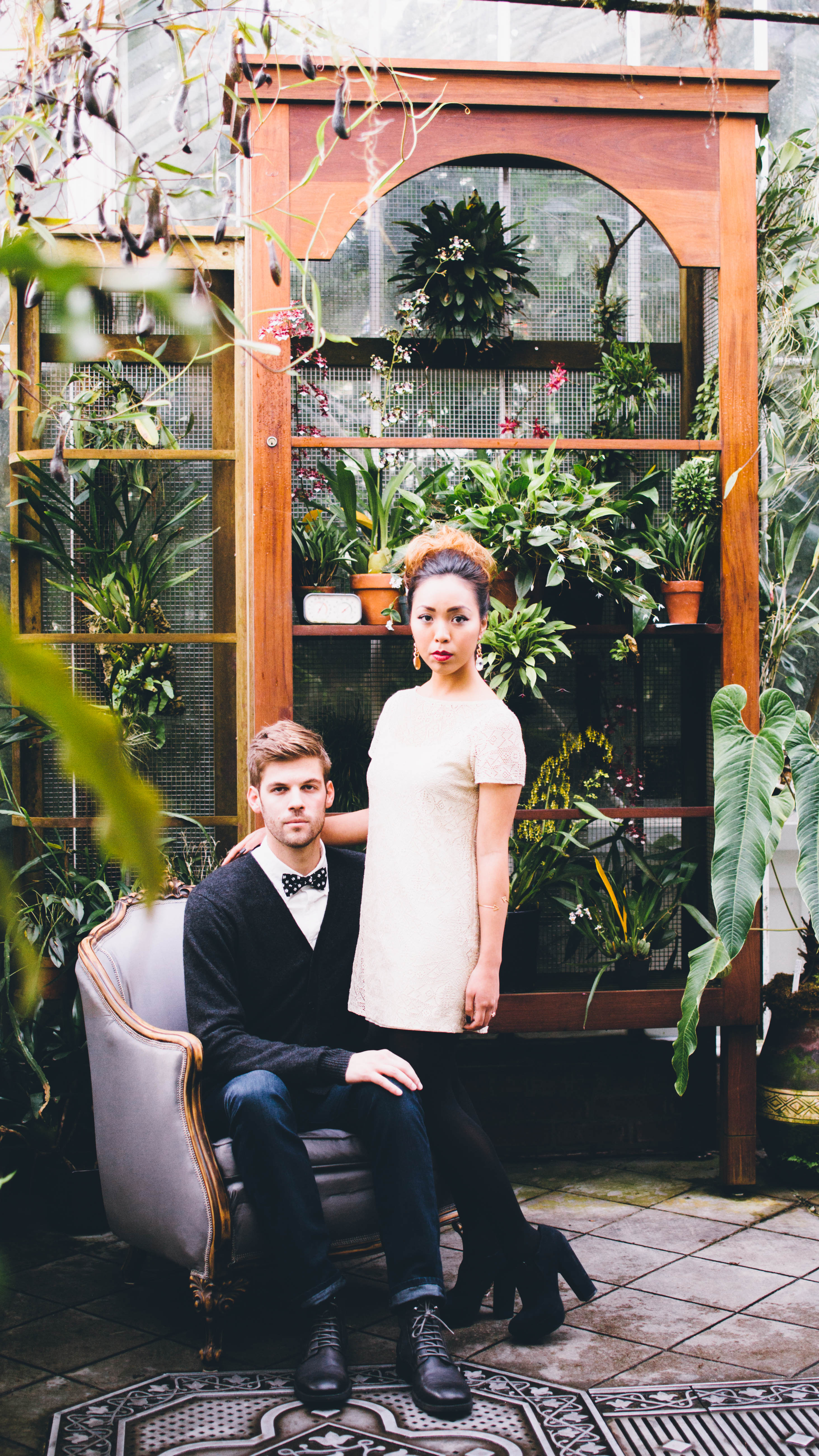 Moody Styled Engagement Shoot - One True Love Vintage Rentals