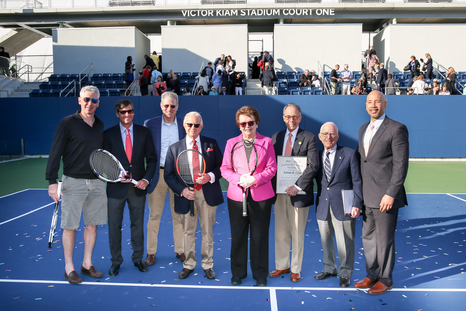 NYJTL Cary Leeds Center Stadium Court Dedication - NYLUX Events