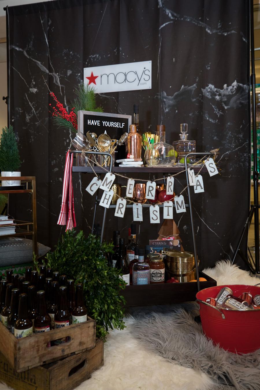 Holiday Bar Cart Styling with Macy's - Jayne Weddings