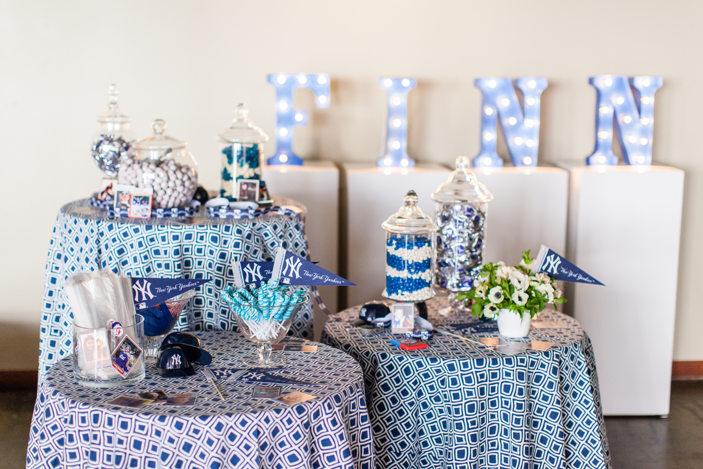 Yankee Theme Bar Mitzvah - Marilyn Ambra Party Consultants