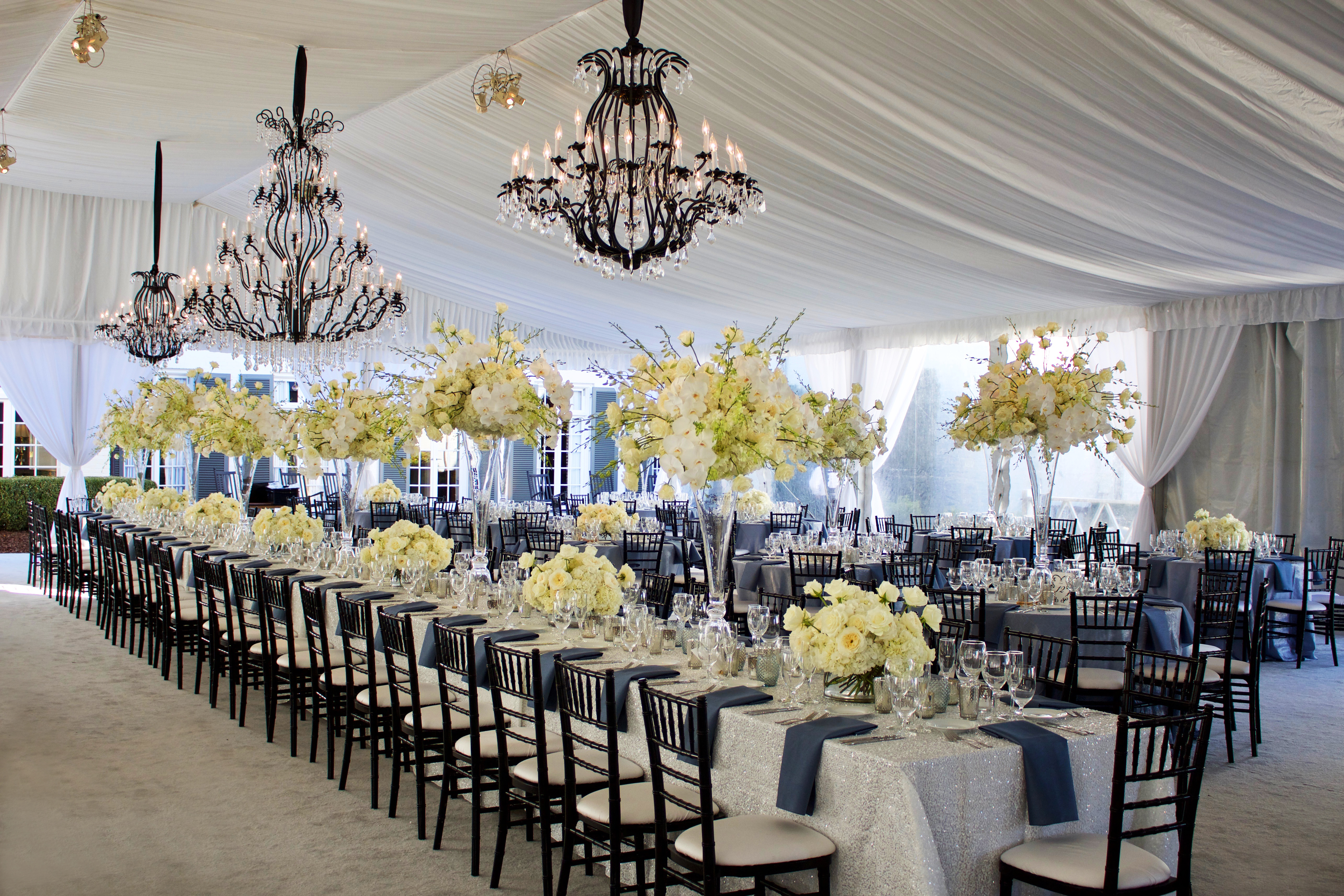 Stunning White & Black Tented Wedding - Dina Berg Blazek Events