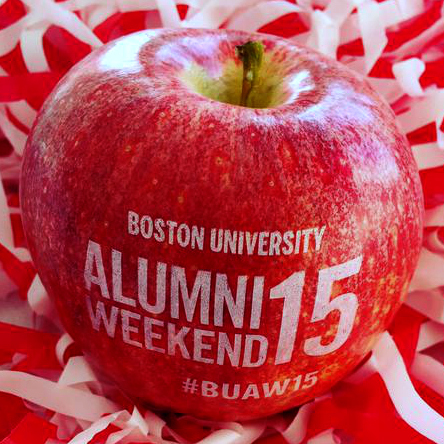 The Boston University Alumni Association offered Fun to Eat Fruit at their annual fall alumni weekend.