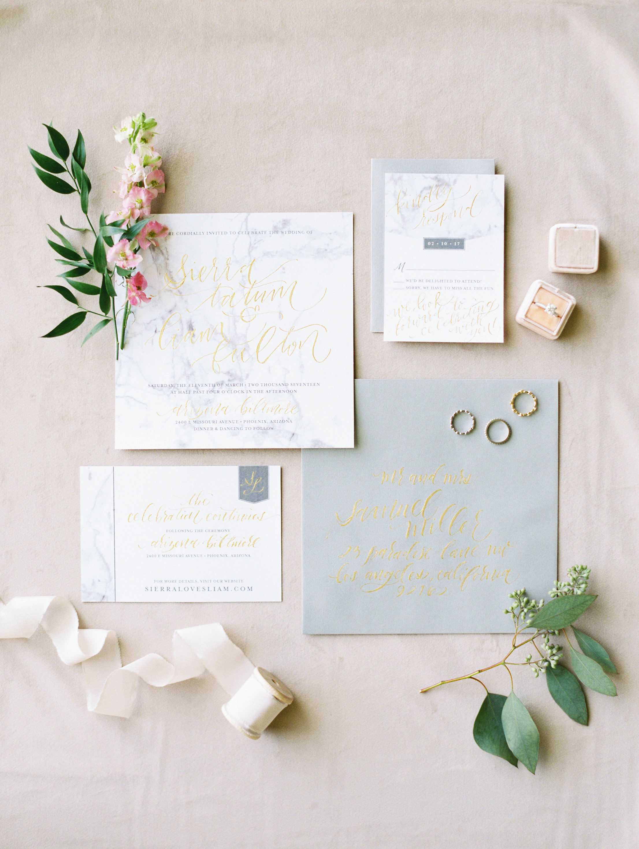 Romantic Grey Wedding - Idieh Design
