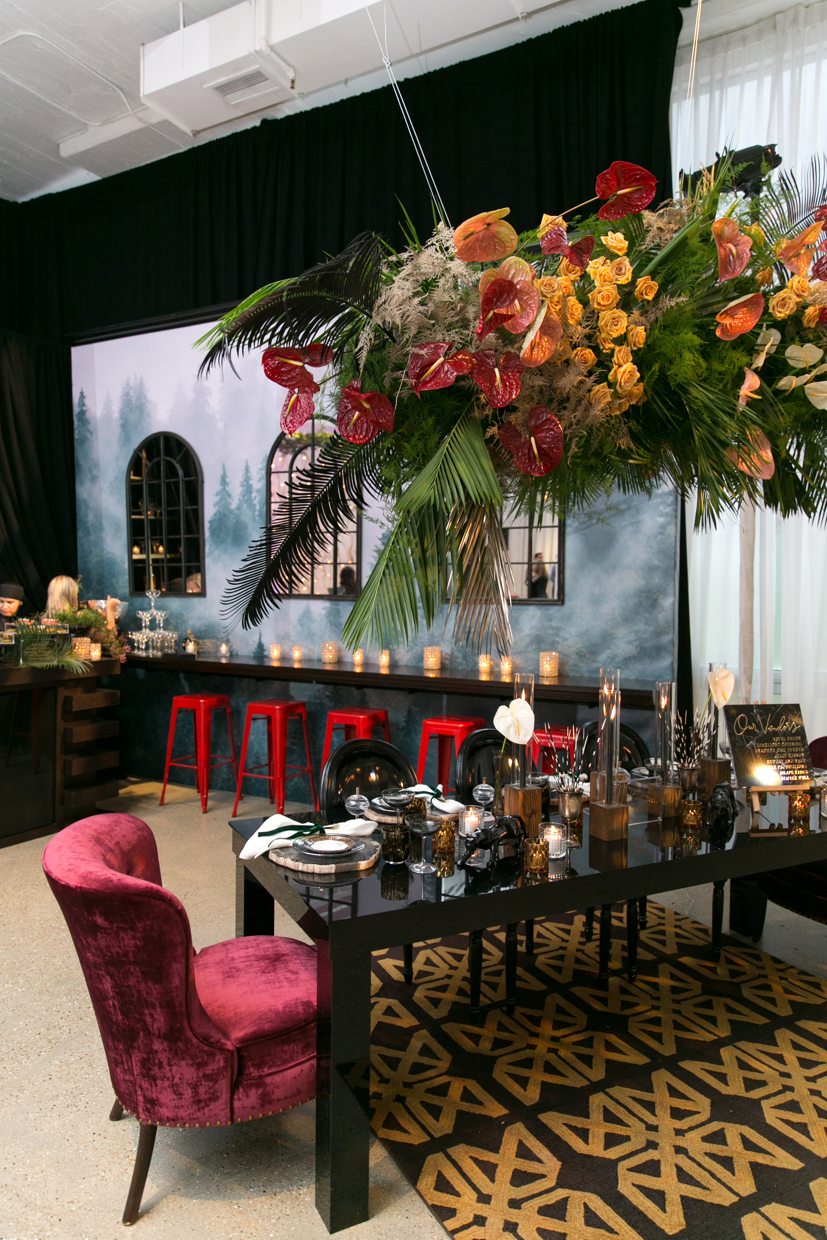 Luxe Gold & Berry Dinner Party - Shannon Gail Events
