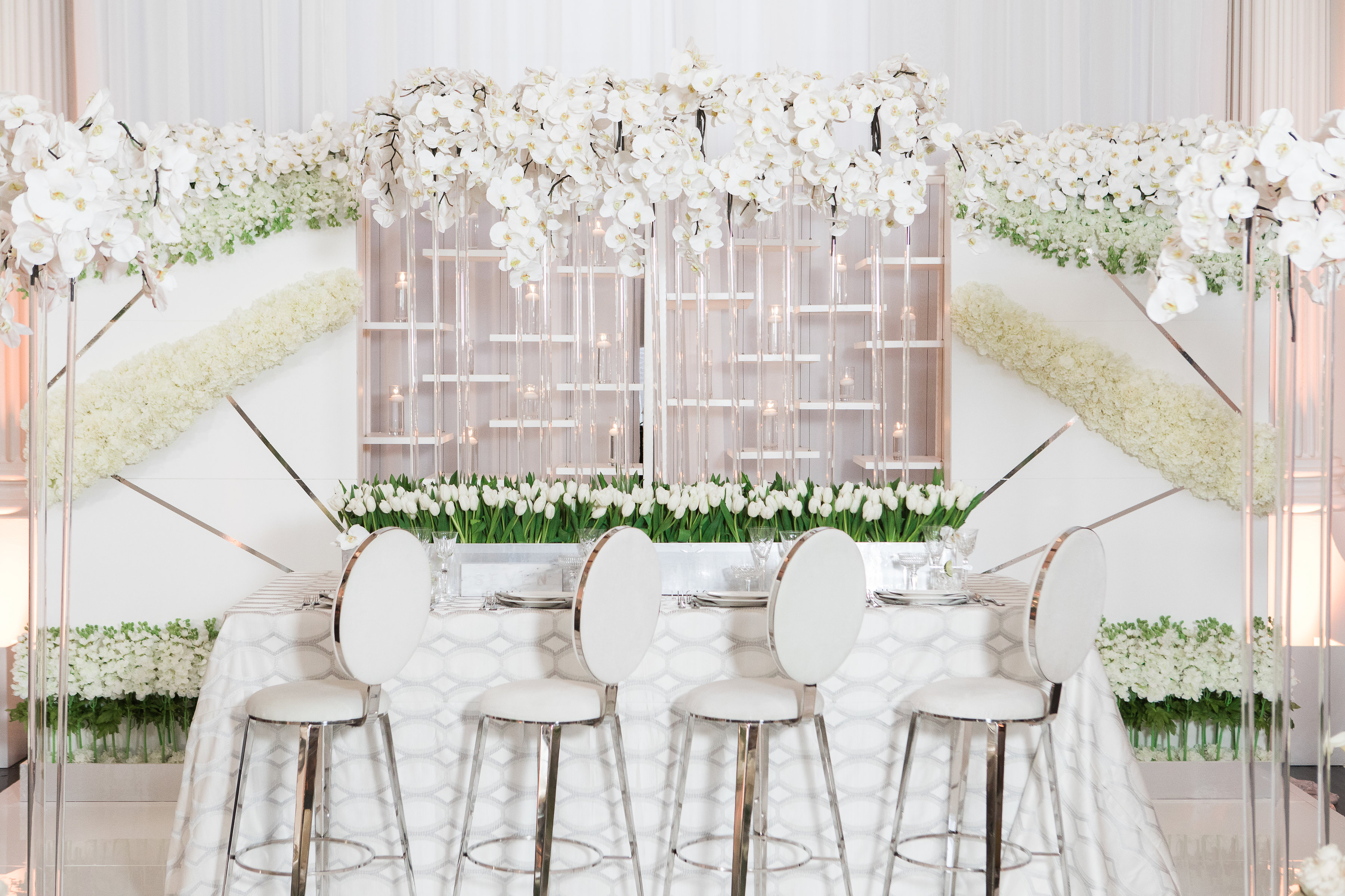 Fresh and Floral Filled Spring Dinner Party - Luxe Linen