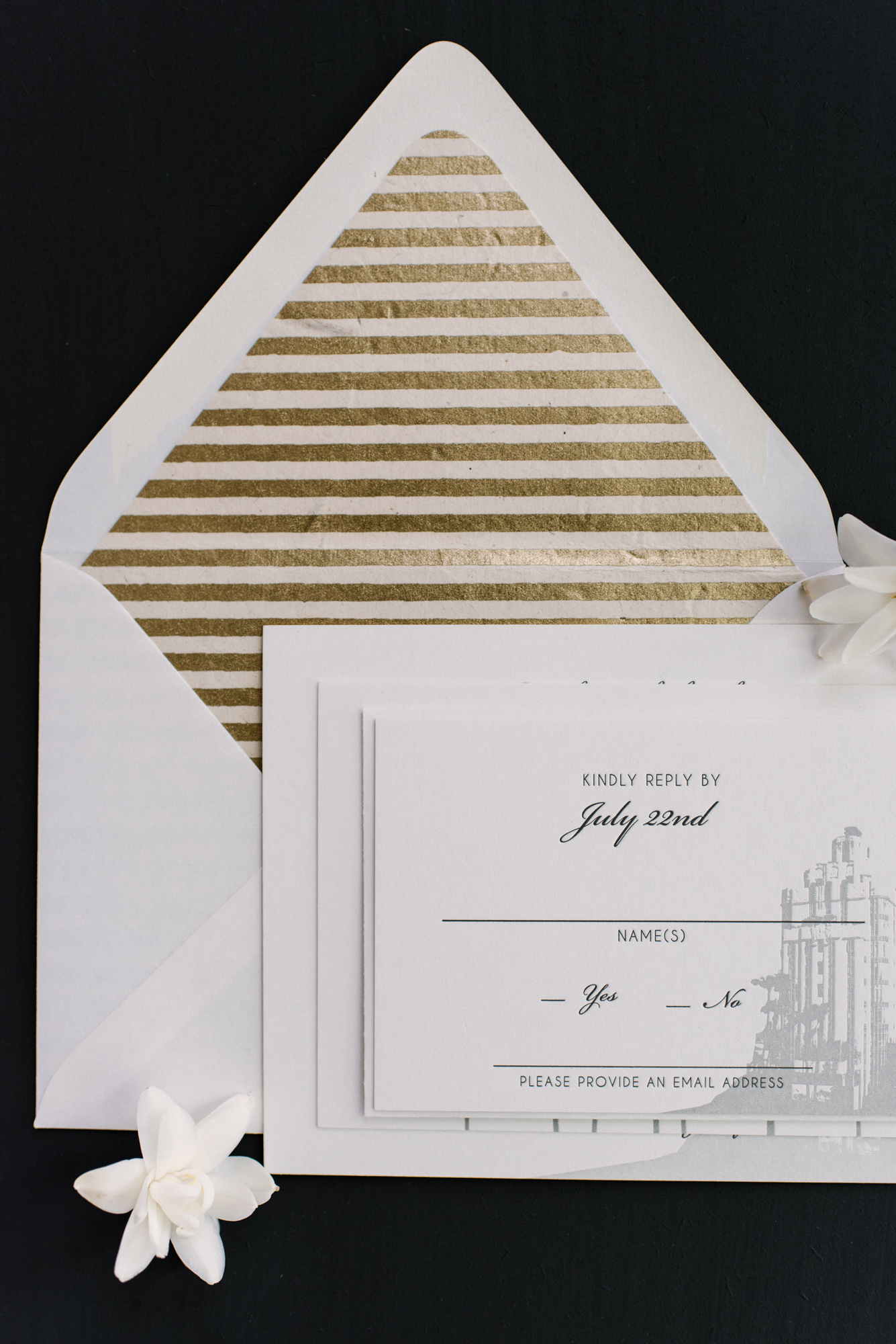 Underwood Letterpress | Art Deco wedding at the Sunset Tower Hotel ...