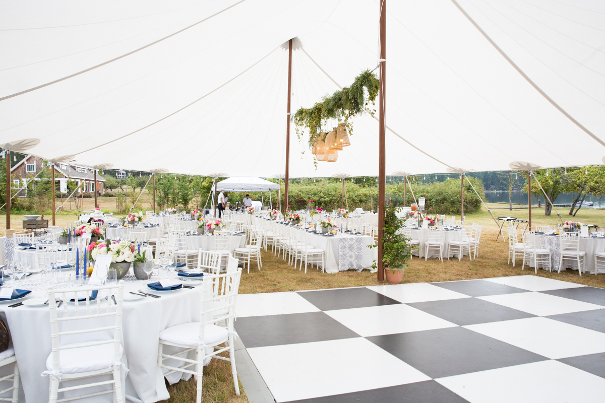 Tented Island Wedding - Valley & Company Events