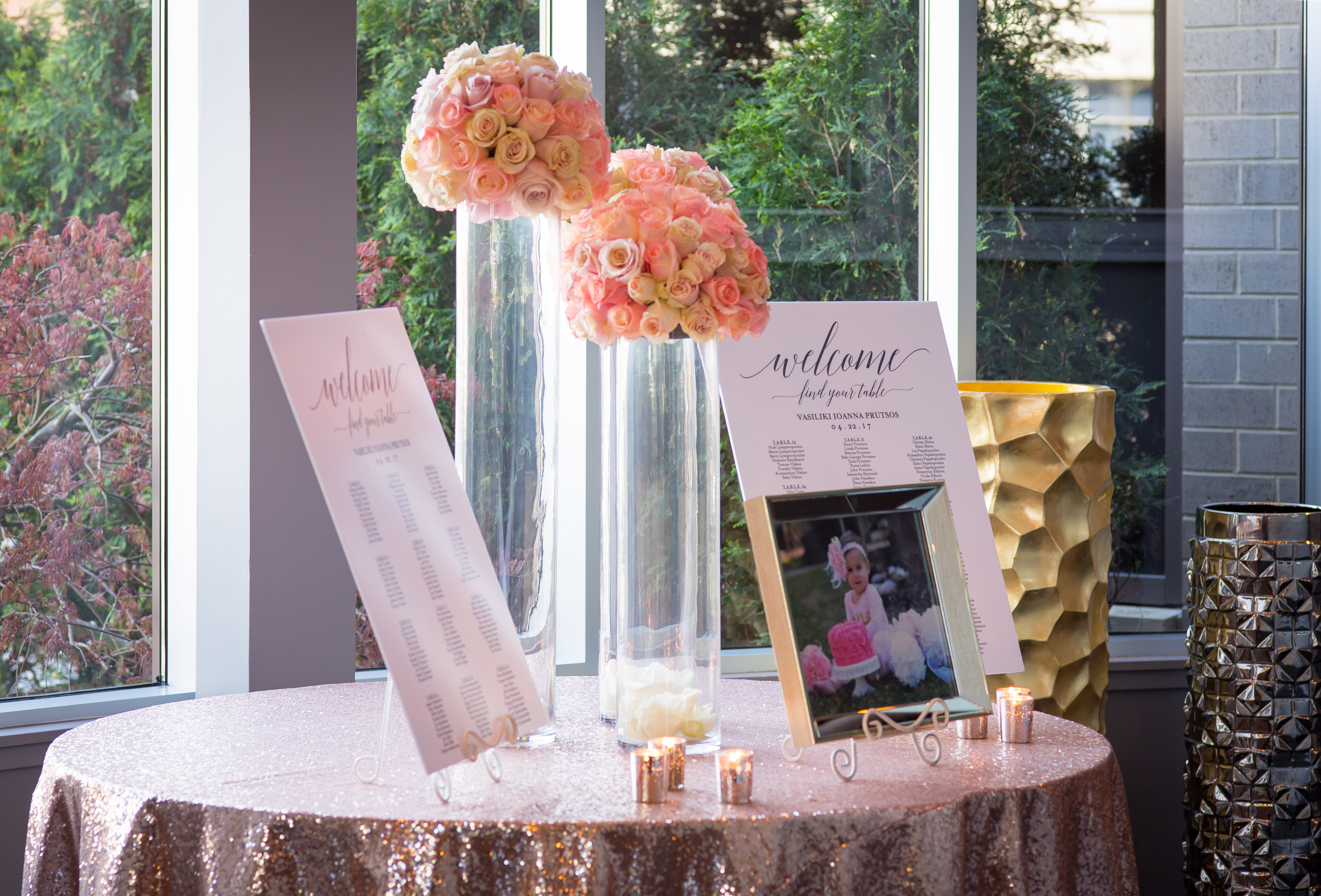 A Sweet Blush Baptism - The Estate by Gene & Georgetti