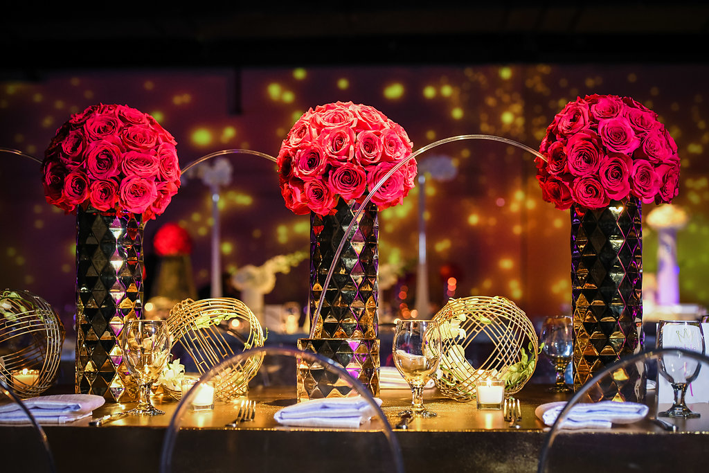 Metallic Rose: Ft. Lauderdale Bat Mitzvah - Chris Weinberg Events