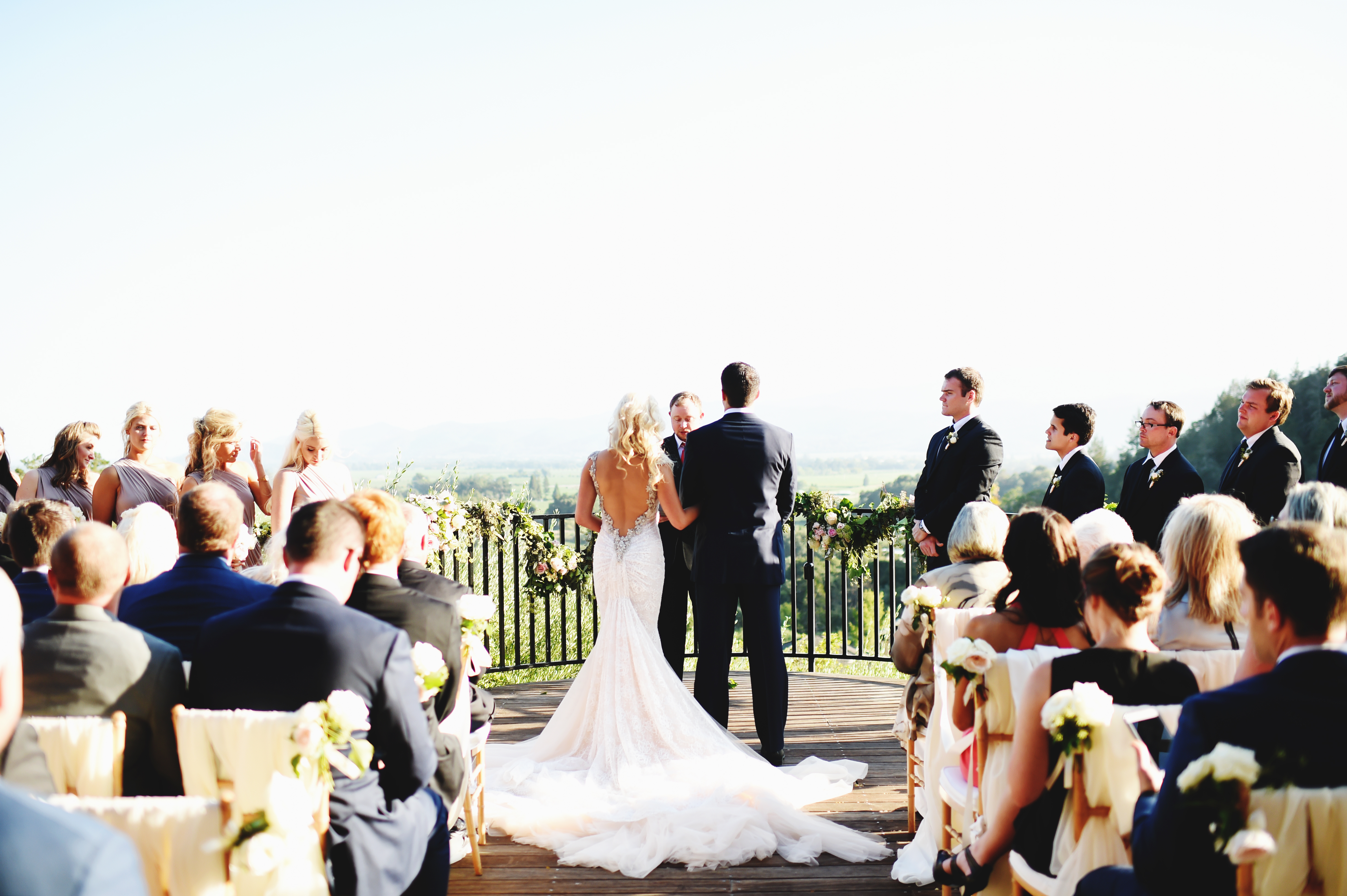Timeless Wedding on the Terrace - Cole Drake Events