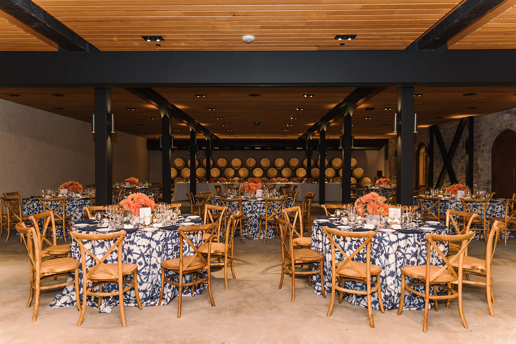 Coral & Sea Blue Rehearsal Dinner - Cole Drake Events