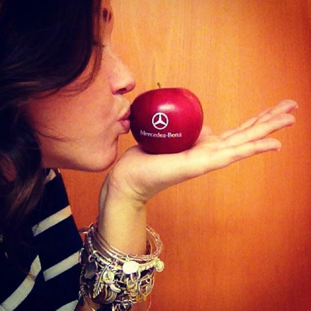 A regional Mercedes Benz dealership offered branded Fun to Eat Fruit apples to clients attending a Fall sales event.