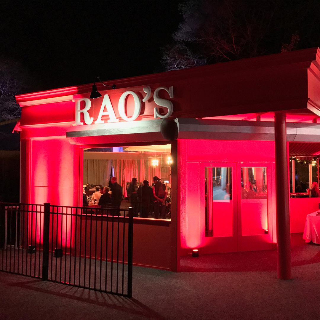 Exterior of Rao's italian restaurant