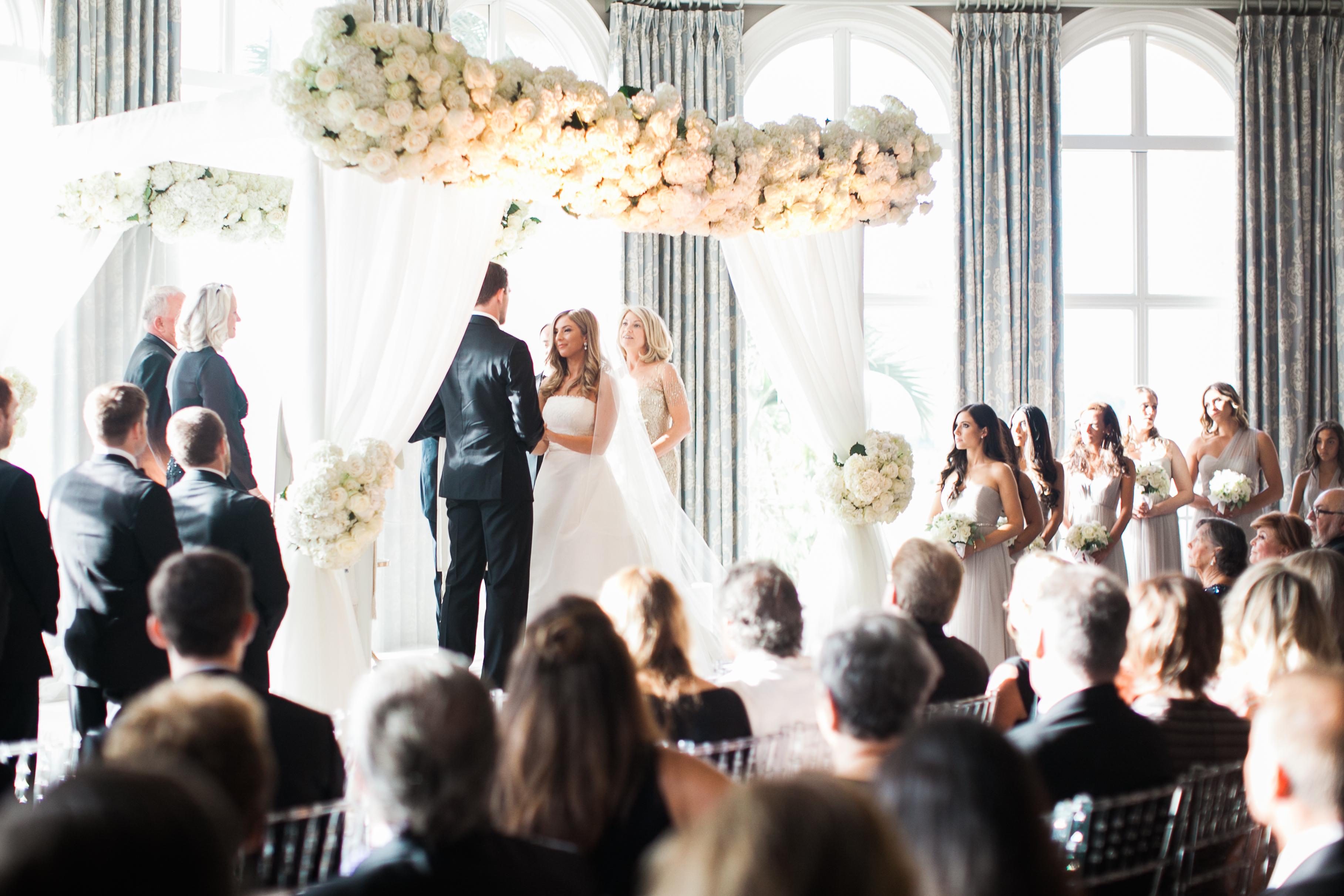 Stunning White & Silver Country Club Wedding - Posh Parties