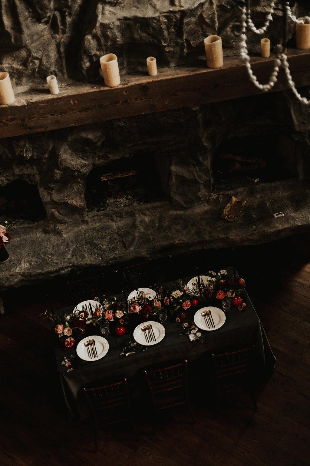Romantic Candlelit Styled Winter Wedding - BBJ Linen
