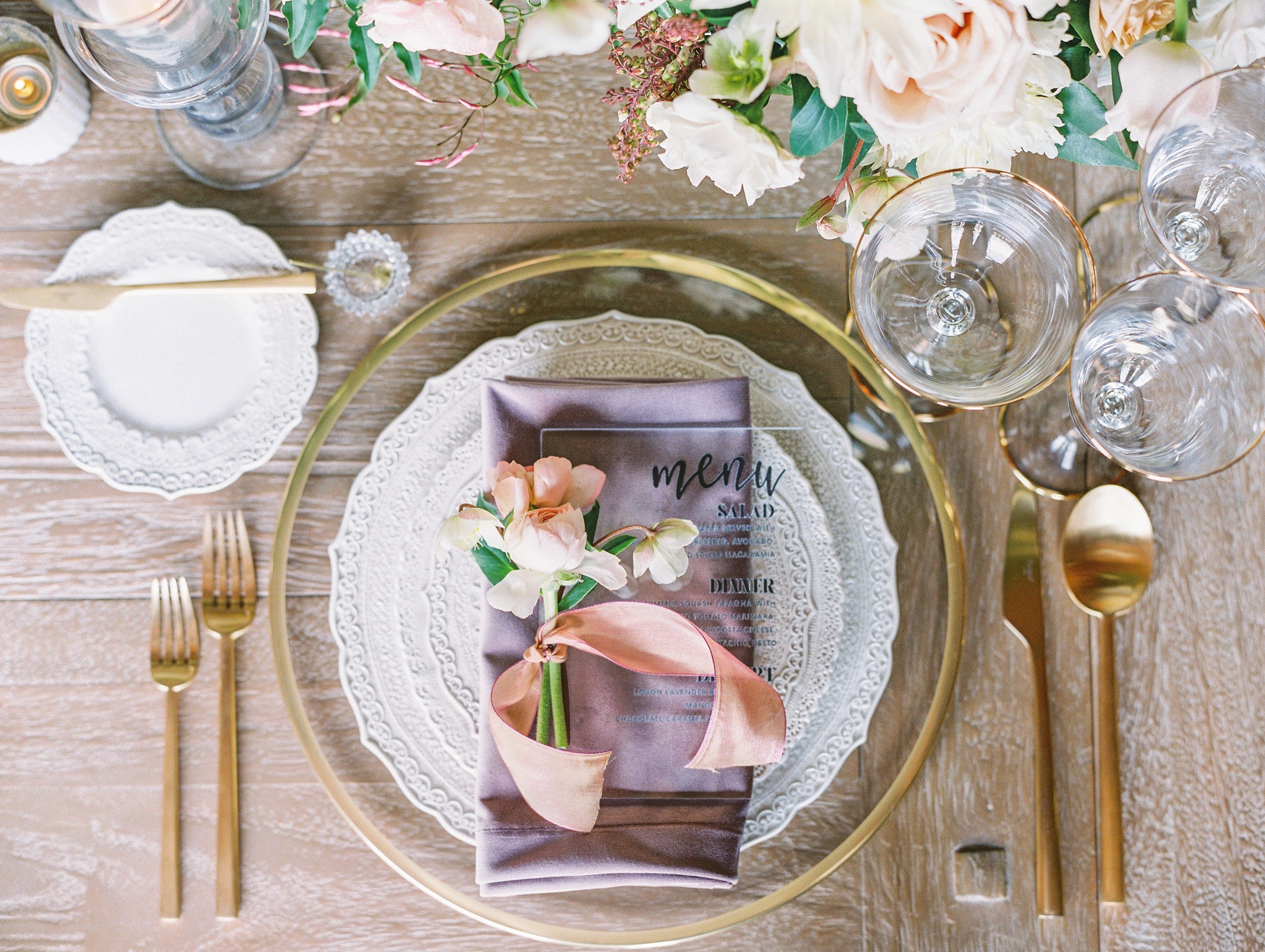 Exposed Brick and Gold Accents - BBJ Linen