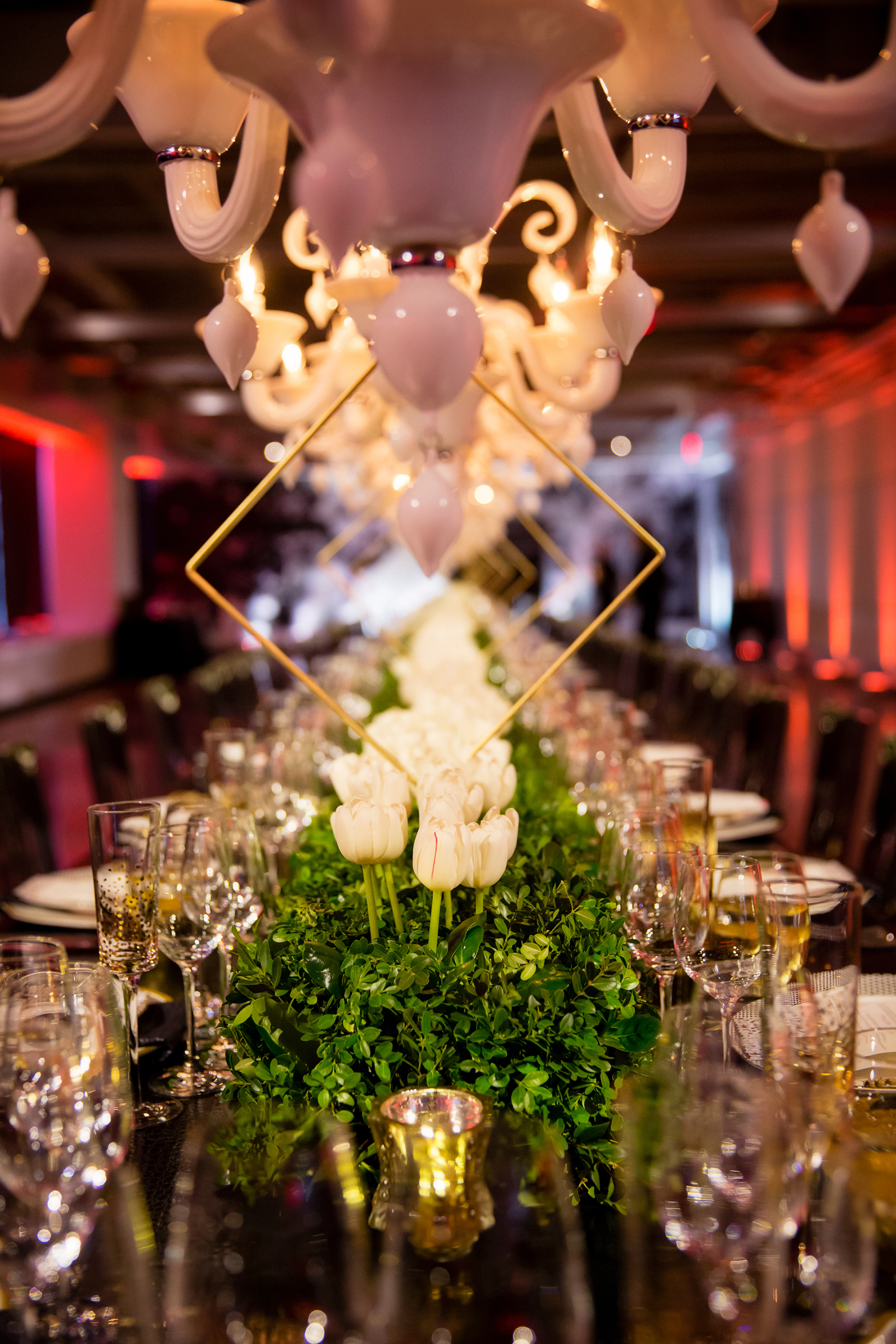 Luxe Modern Dinner - Suzanne B. Lowell Lighting Design