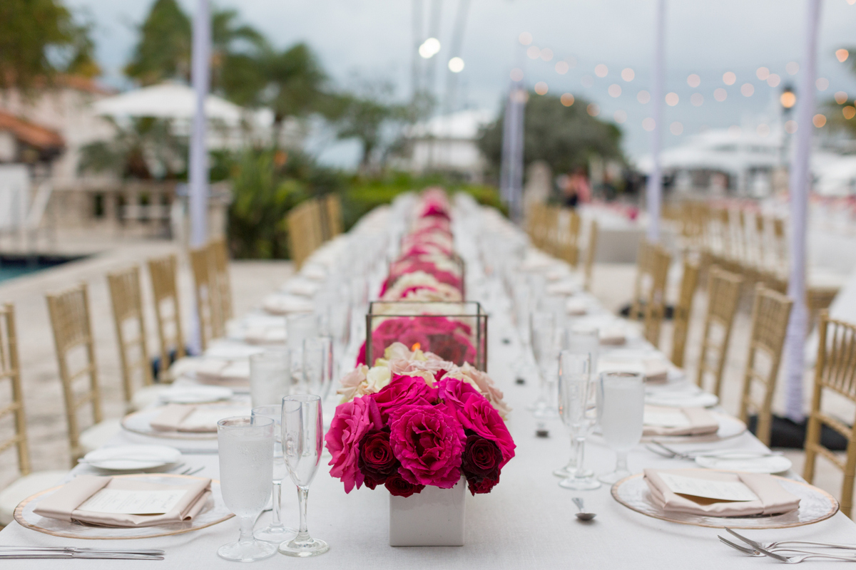 Miami Beach Courtyard Wedding - Tracie Domino Events