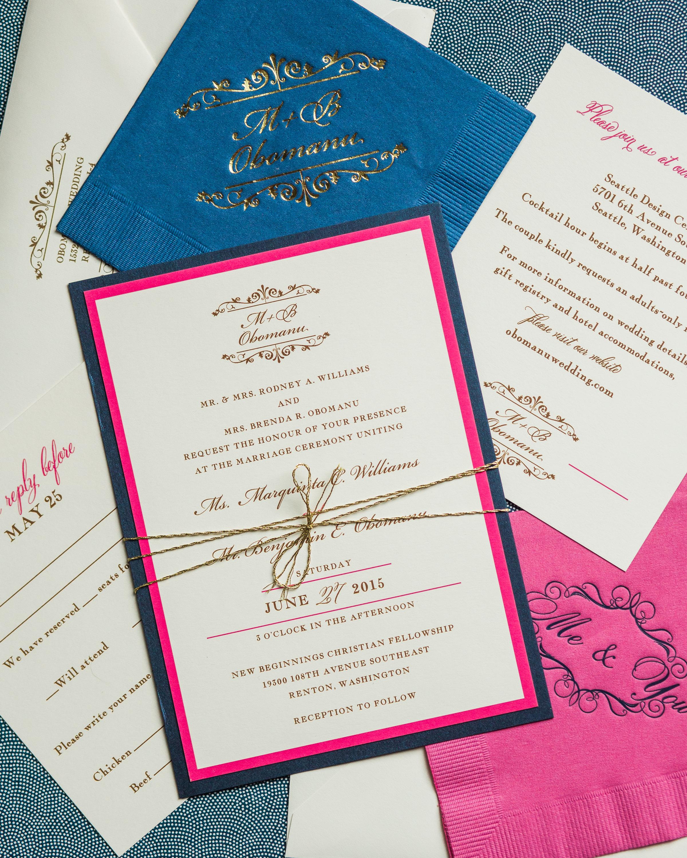 Fuchsia and Navy NFL Wedding - Valley & Company Events